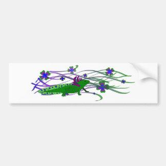 Axolotl Grün im Glück Autoaufkleber