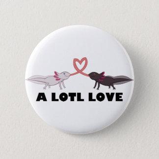 Axolotl-Liebe Runder Button 5,7 Cm