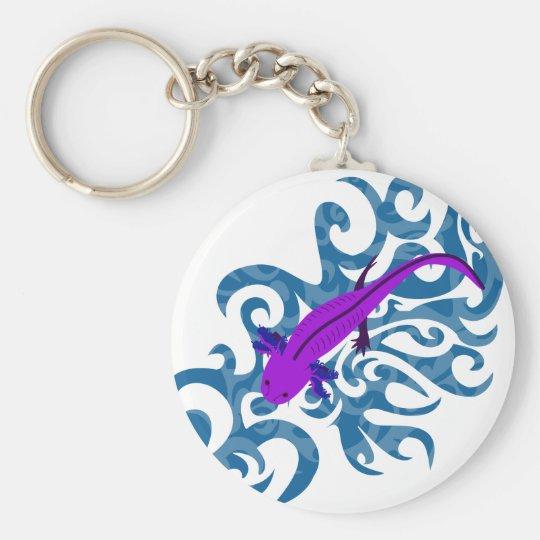 Axolotl Lila im Wasser Schlüsselanhänger