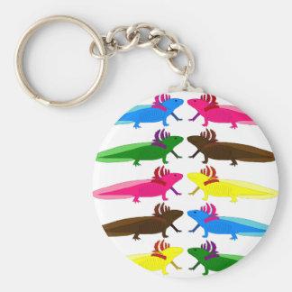 Axolotl Muster Schlüsselanhänger