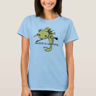 Axolotl passt Sie… T-Shirt auf (goldenes Albino)