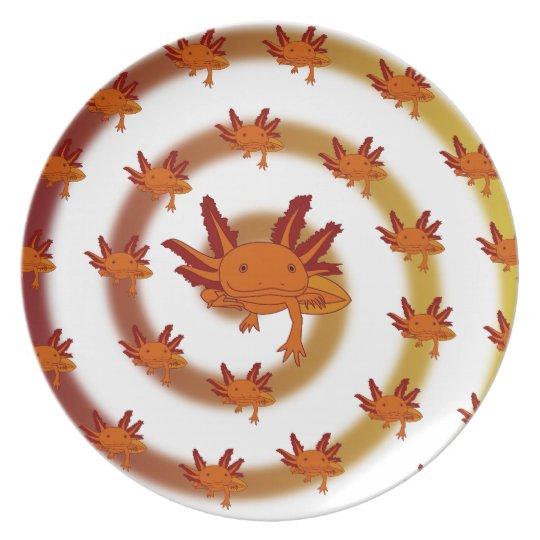 Axolotl Strudel Orange Teller
