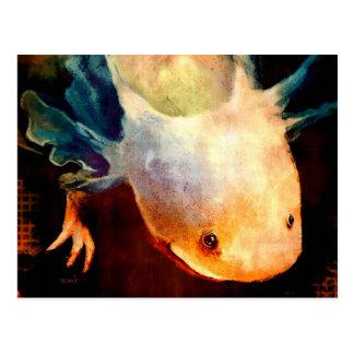 Axolotl Sun Postkarte