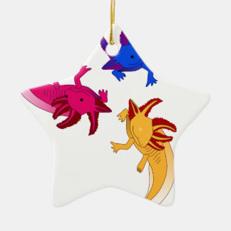 Axolotl Trio Keramik Ornament