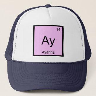 Ayanna Namenschemie-Element-Periodensystem Truckerkappe