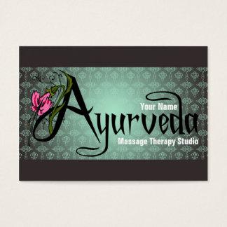 Ayurveda - Geschäfts-/Zeitplan-Karte Visitenkarte