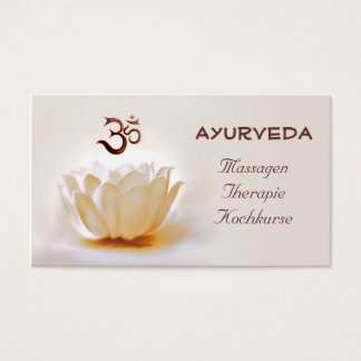 Ayurveda Visitenkarte