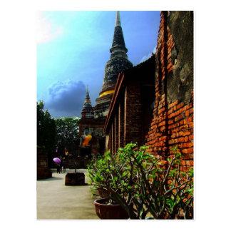 Ayutthaya. Wat Yai Chai Mongkol. Postkarte