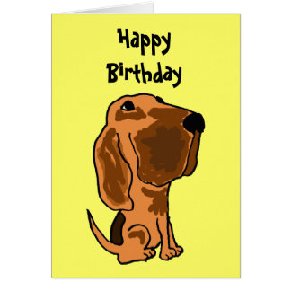 AZ-, lustige Bluthund-Geburtstags-Karte Karte