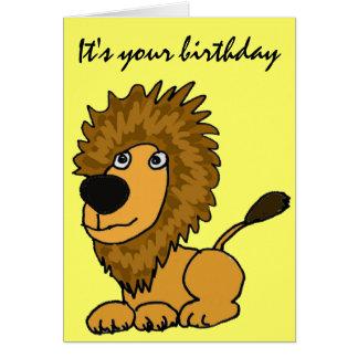 AZ-, lustige Löwe-Geburtstags-Karte Karte