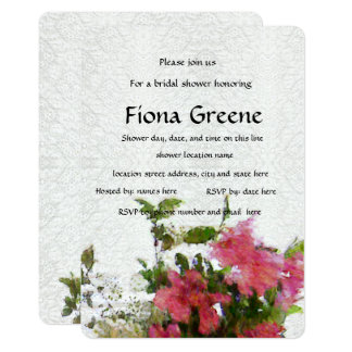 Azaleen-Brautparty-Einladungsspitze der Liebe rosa Karte