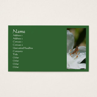 Azaleen-kleine Heuschrecken-Natur-Visitenkarte Visitenkarte