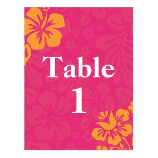Azaleen-Strand-Blumen-Tischnummern Postkarte