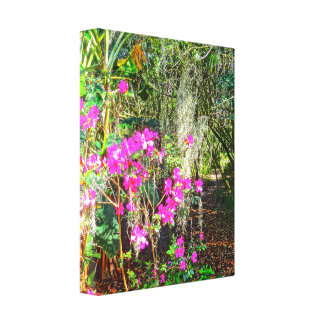 Azaleen-Weg Bok Turm-Gardens See Wales Florida Leinwanddruck