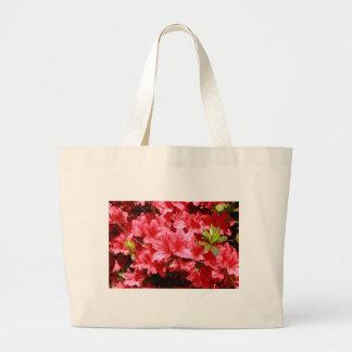 Azaleenrot-Blumen Jumbo Stoffbeutel