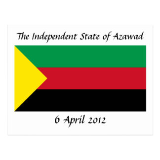 Azawad Flagge Postkarte