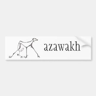Azawakh Autoaufkleber-Entwurf durch David Moore Autoaufkleber