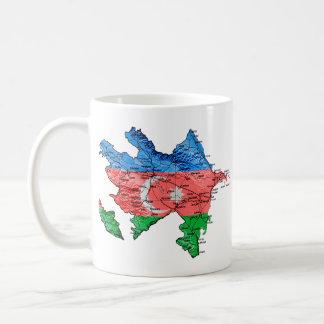Azerbaijan eText ~ Flagcolor Karten-Tasse Kaffeetasse