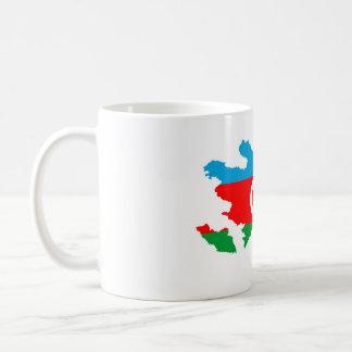 Azerbaijan-Landesflaggekarten-Formsymbol Kaffeetasse