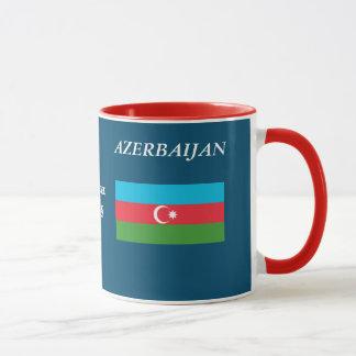 Azerbaijan-Wappen und -flagge schwärzen 11 Tasse