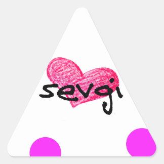 Azerbaijani Sprache des Liebe-Entwurfs Dreieckiger Aufkleber