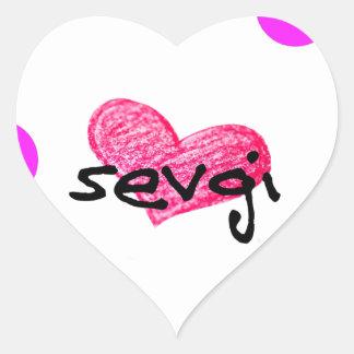 Azerbaijani Sprache des Liebe-Entwurfs Herz-Aufkleber