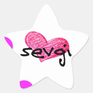 Azerbaijani Sprache des Liebe-Entwurfs Stern-Aufkleber