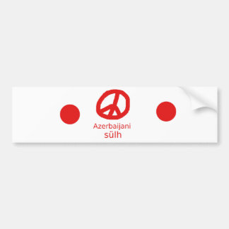 Azerbaijani Sprache und Friedenssymbol-Entwurf Autoaufkleber