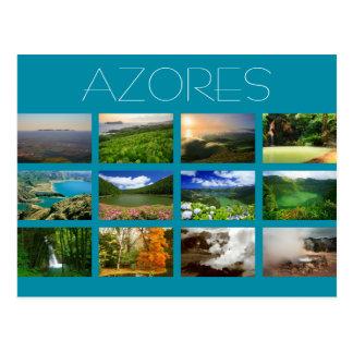 Azoren-Landschaften Postkarte