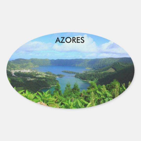 Azores Ovaler Aufkleber