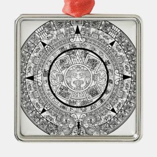 aztec_calender silbernes ornament