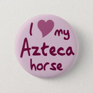 Azteca Pferd Runder Button 5,1 Cm