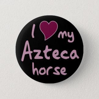 Azteca Pferd Runder Button 5,7 Cm