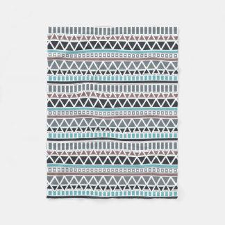 Azteke-inspirierte Muster-Fleece-Decke Fleecedecke