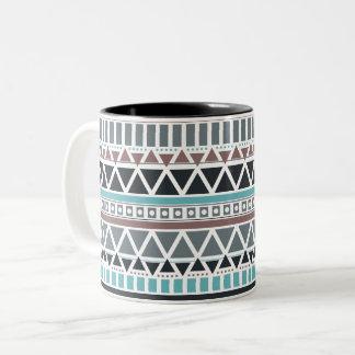 Azteke-inspirierte Muster-Tasse Zweifarbige Tasse