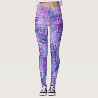 Azteke lila leggings