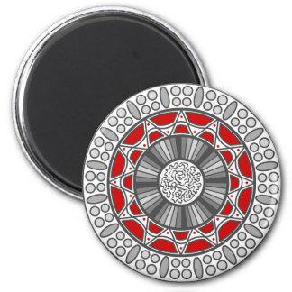 Azteke trifft alien-Magneten Runder Magnet 5,1 Cm