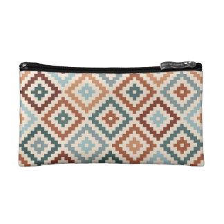 Aztekische Block-Symbol Ptn Knickenten Crm Makeup-Tasche