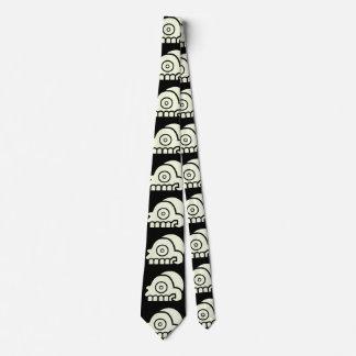 Aztekische der Kopf-Schädel-Krawatte des Todes Bedruckte Krawatte