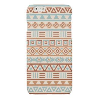 Aztekische Einfluss-Muster-Creme-Blau-Terrakotta