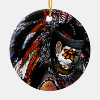 Aztekische Feier Keramik Ornament