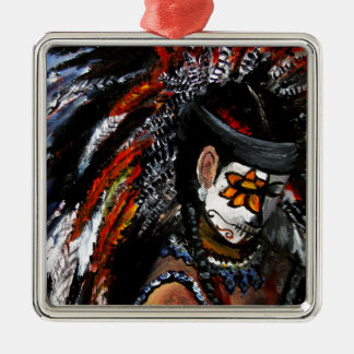 Aztekische Feier Silbernes Ornament