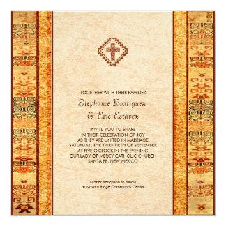 Aztekische Fiesta-christliche quere quadratische Karte