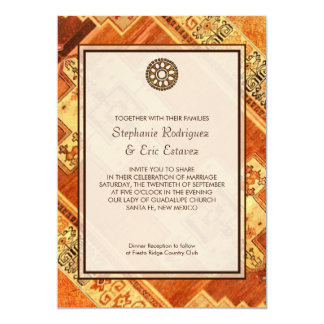 Aztekische Fiesta-Hochzeit Karte