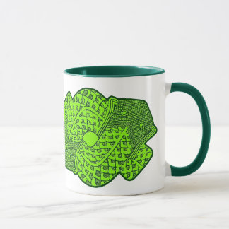 Aztekische grüne Schlangen-Tasse Tasse