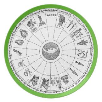 Aztekische Jahr-Melamin-Platte Teller