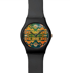 Aztekische Küsten-Entwurfs-Uhr Uhr