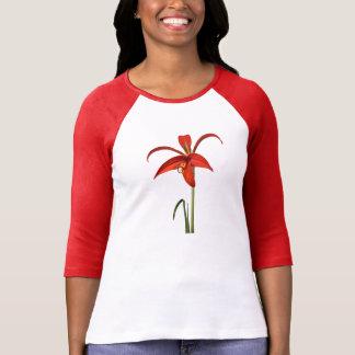 Aztekische Lilien-rotes Blumen-Foto T-Shirt