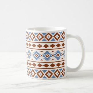 Aztekische Rost-Blau-Creme des Kaffeetasse