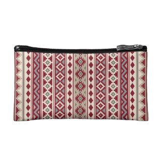 Aztekische rote Grau-Sahnesand des Wesentlich-V Makeup-Tasche